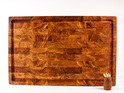 end grain board with juice groove - heart rimu
