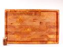 end grain board with juice groove - macrocarpa