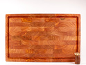 end grain board with juice groove - macrocarpa
