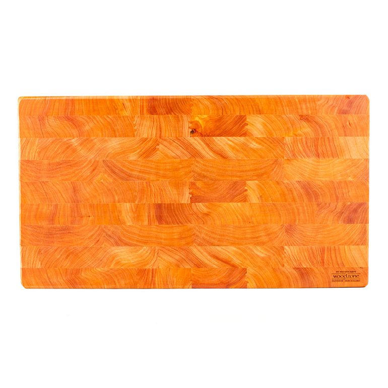 end grain chopping board - macrocarpa