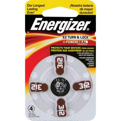 Energizer Batt H/Aid AZ312 4pk