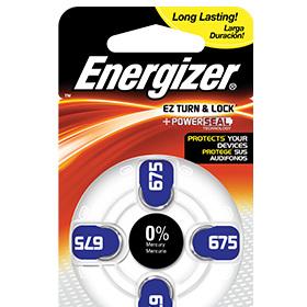 Energizer Batt H/Aid AZ675 4pk