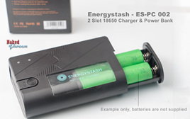 Energystash - ES-PC 002 - 2 Slot 18650 Charger & Power Bank