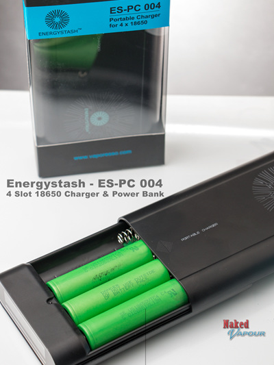 Energystash - ES-PC 004 - 4 Slot 18650 Charger & Power Bank