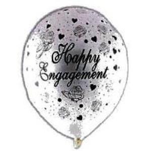 Engagement Balloon - Pearl White