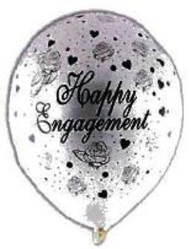 Engagement Balloon - Pearl White