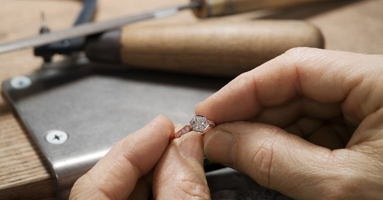 Engagement Ring in Workshop