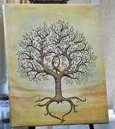 Engagement Signing Tree - Canvas