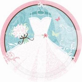 Engagement/Bridal Shower Party plates x 18