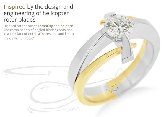 engineered design inspired the rotec diamond ring