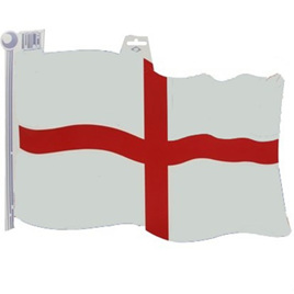 England Flag Doubsided Card Cutout 450mm
