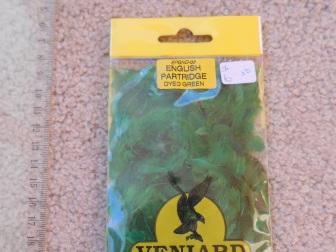 English Partridge Dyed Green