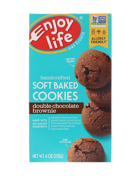 Enjoy Life, Soft Baked Cookies, Double Chocolate Brownie, (170 g)