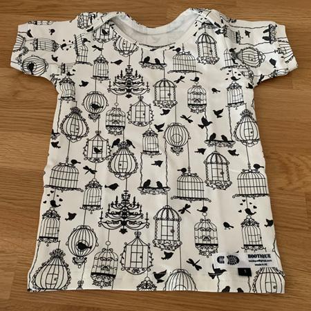 Envelope neck t-shirt -Birdcages - Size 1