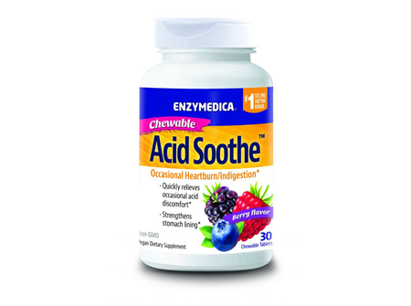 Enzymedica Acid Soothe Chewable - 30 chewable tablets