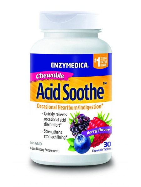 Enzymedica Acid Soothe Chewable  30 chewable tablets