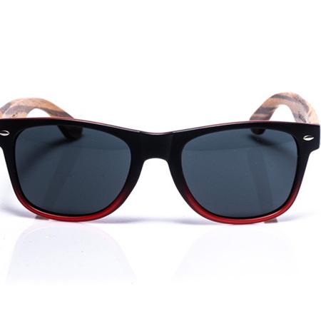 EP1 Wood Arm Sunglasses - Black/Red
