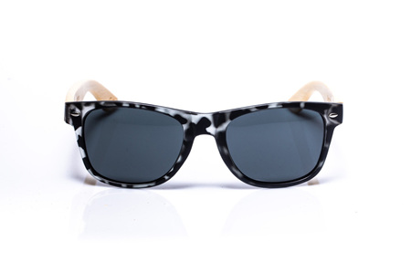 EP1 Wood Arm Sunglasses - Grey Army