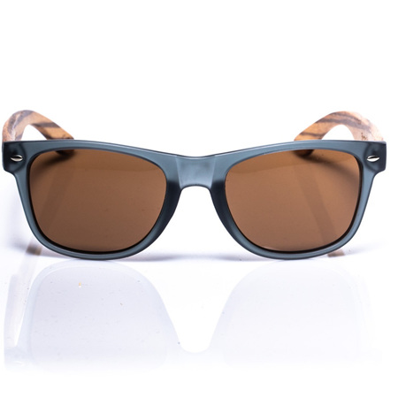 EP1 Wood Arm Sunglasses - Grey & Brown Lens