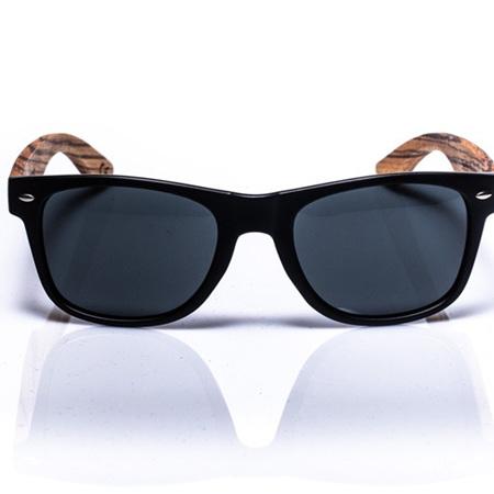 EP1 Wood Arm Sunglasses - Matt Black & Grey Lens