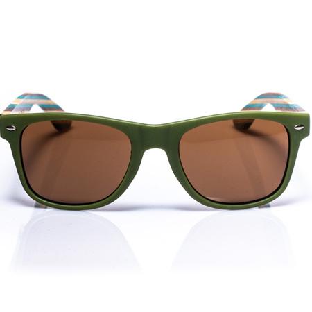 EP1 - Wood Arm Sunglasses - Olive Green