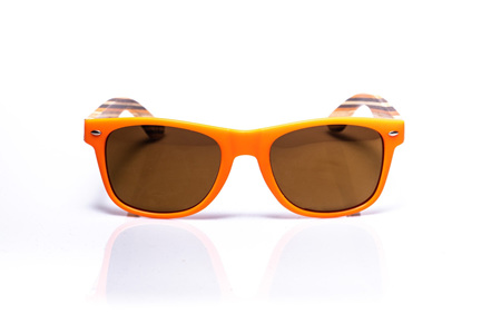 EP1 Wood Arm Sunglasses - Orange & Brown Lens