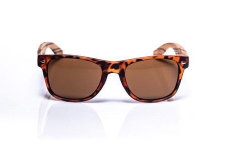EP1 Wood Arm Sunglasses - Tortoise & Brown Lens