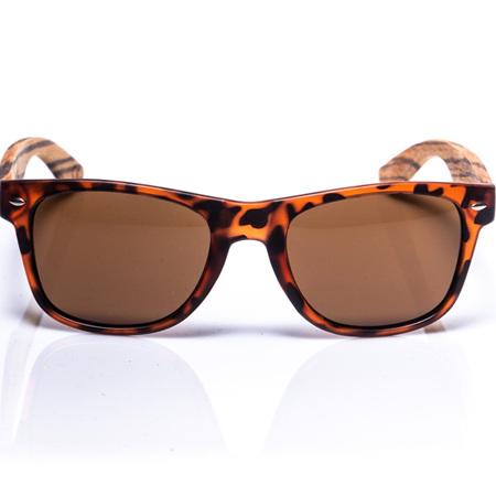 EP1 Wood Arm Sunglasses - Tortoise & Brown Lens