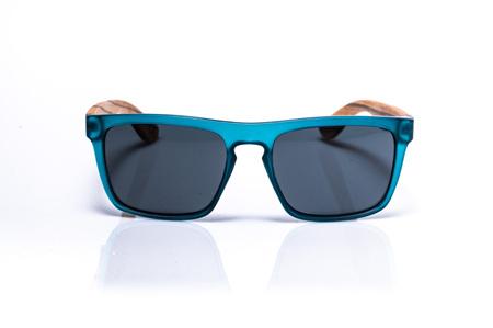 EP2  Wood Arm Sunglasses - Teal