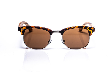 EP3 - Tortoise Sunglasses with Wire Rim and Brown Lens