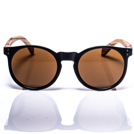 EP4 Sunglasses - Round Black Matt & Brown Lens