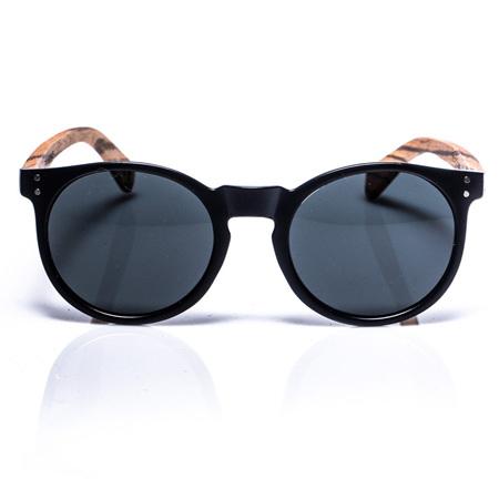 EP4 Sunglasses - Round Black Matte & Grey Lens