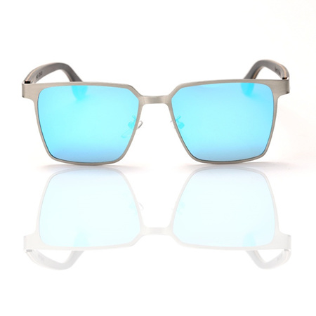 EP5 Wooden Arm Sunglasses-Silver with ICE Lens