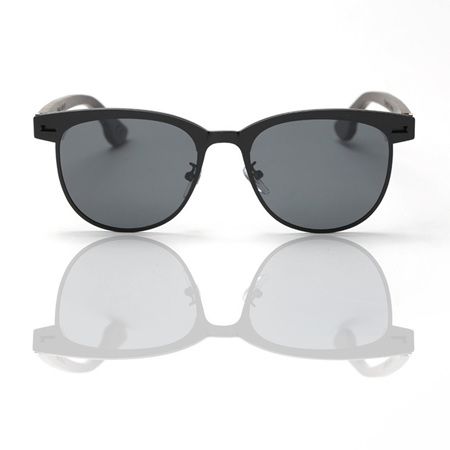 EP6  Sunglasses - Black with Grey Lens