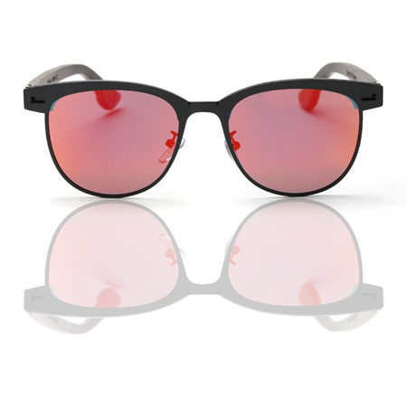EP6 Sunglasses - Black with Maroon Lens