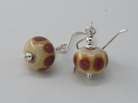 EPD Earrings - EDP Dots on Opal Yellow