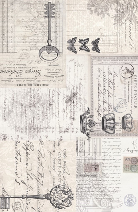 Ephemera Collage Royce Decoupage Paper
