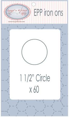 "EPP Iron ons 1 1/2"" Circles"