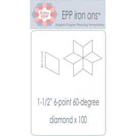 "EPP Iron ons 1 1/2"" Diamond"