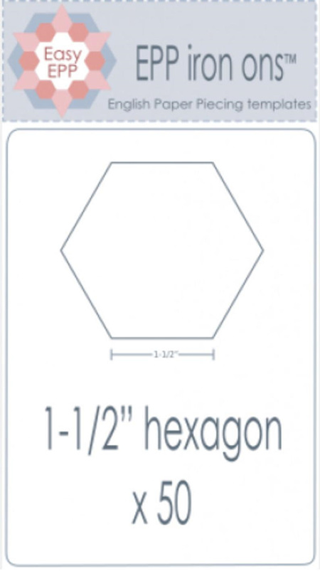 "EPP Iron ons 1 1/2"" Hexagon x50"