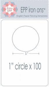 "EPP Iron ons 1"" Circles"