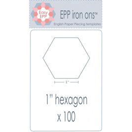 "EPP Iron ons 1"" Hexagons"