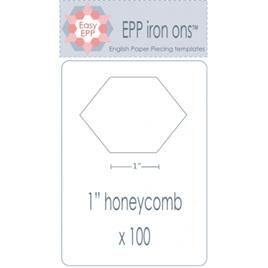 "EPP Iron ons 1"" Honeycomb"