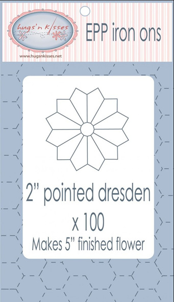 """EPP Iron ons 2"""" Pointed Dresden x100"""