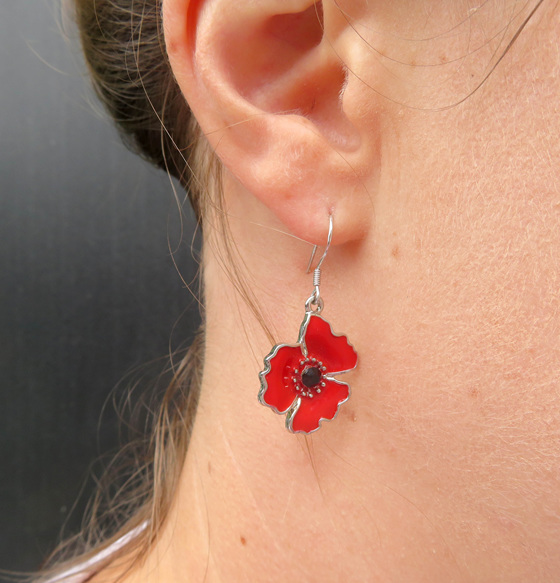 ER11 Poppy earrings