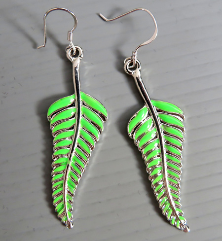 ER13 Fern Leaf earrings