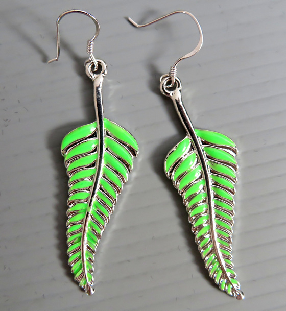 ER13 Fern Leaf earrings