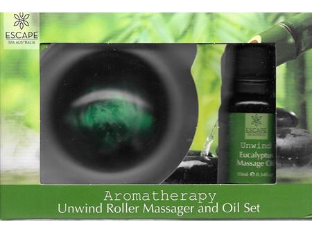 ESCAPE Roller Massager & Oil Set Unwind