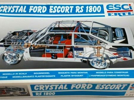 Esci/Ertl 1/24 Crystal Ford Escort RS1800 (ESC3049)