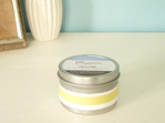 Essential oil fragranced soy tin candle